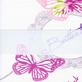 Бабочки розовый 4096