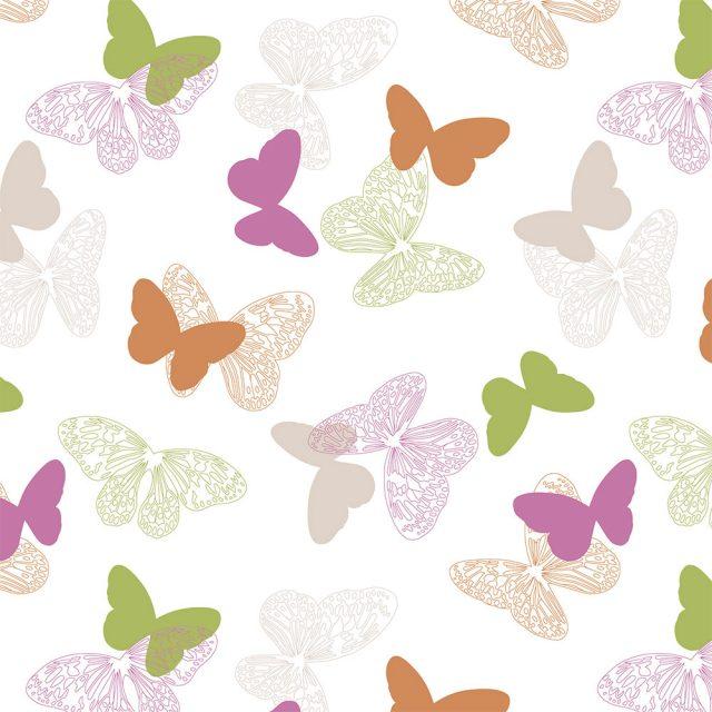 Бабочки розовый 4082